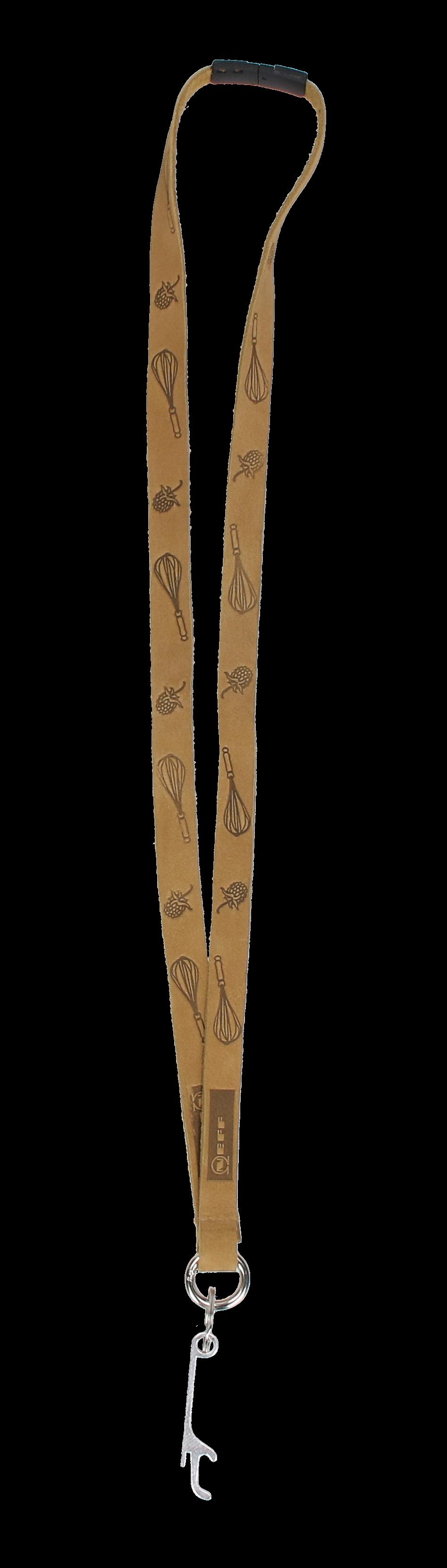 Schlüsselband mit Kapselheber Echtleder
